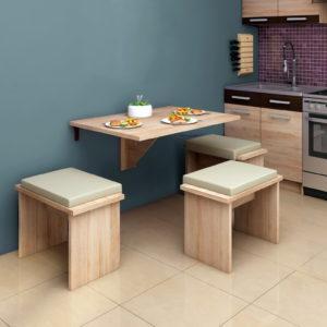 Mesas cocina plegables by Herdasa y Taburetes cocina 67161+67381 catálogo Hispanohogar en muebles antoñán® León