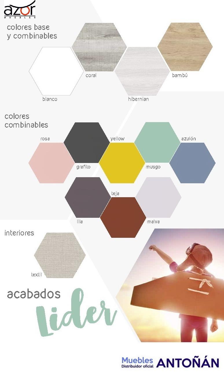 Carta colores 1 Juveniles LIDER by Azor Dormitorio Infantil en muebles antoñán® León