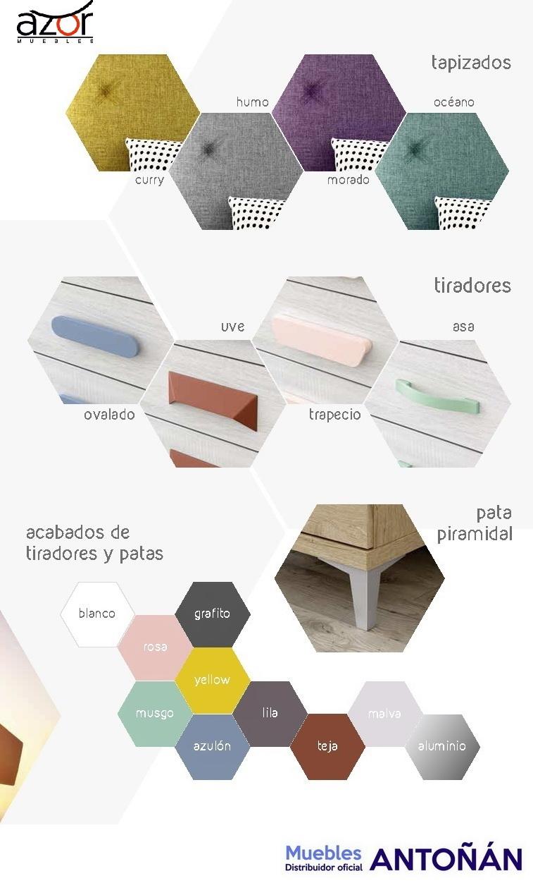 Carta colores 2 Juveniles LIDER by Azor Dormitorio Infantil en muebles antoñán® León