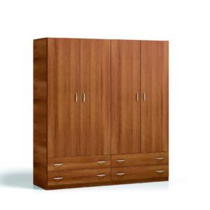 PRIMAVERA Armarios Low Cost by Melibel Armario 4p cerezo 195x57xh208cm en muebles antoñán® León