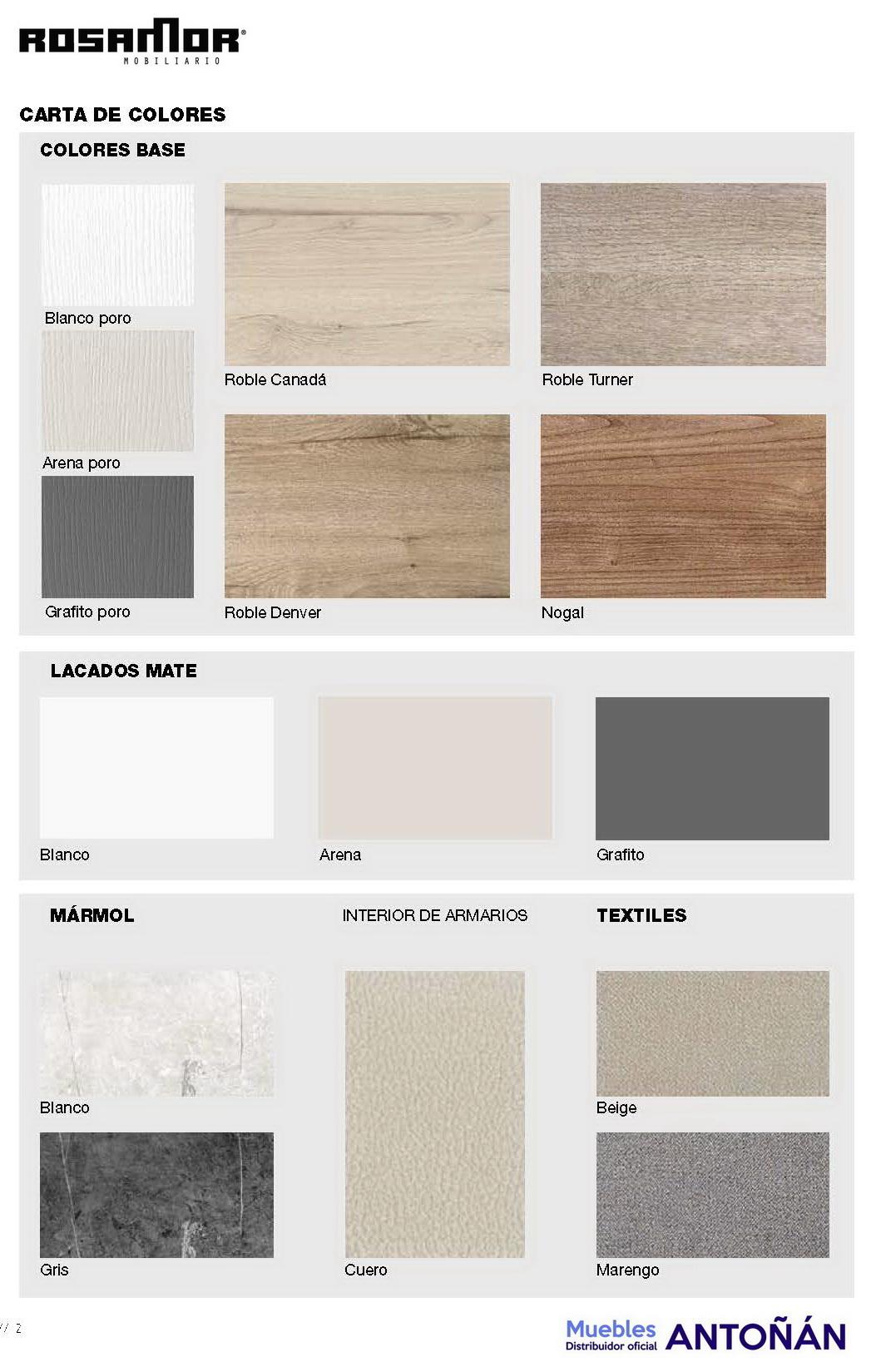 colores catálogo de dormitorios by Rosamor en muebles antoñán® León