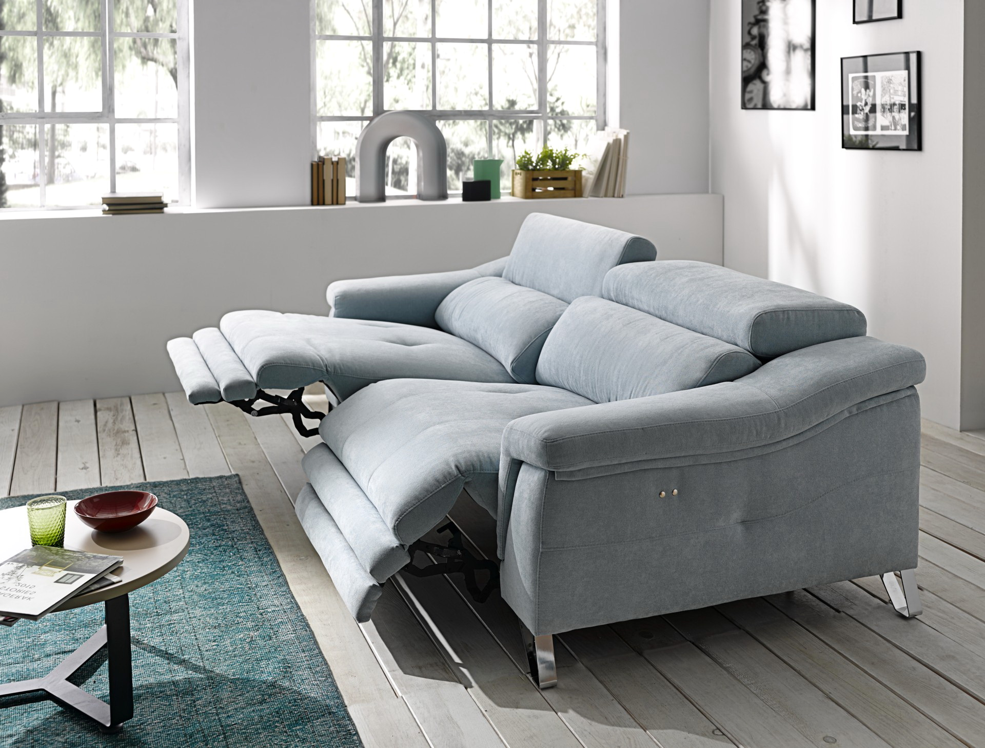 MIRELLA sofá modular relax eléctrico by Pedro Ortiz 3 PLAZAS R.E. 1 grande distribuido por Muebles Antoñán León