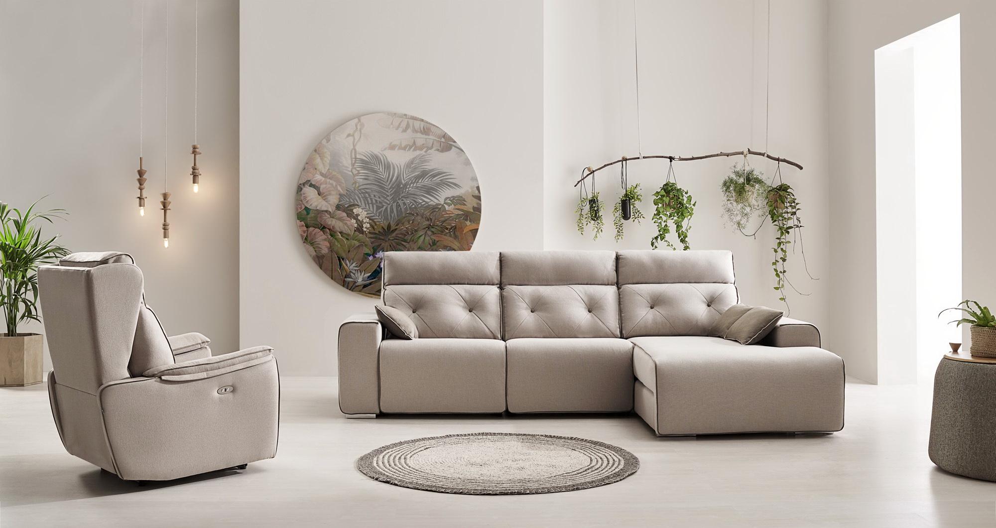 NATIVA sofá modular asientos relax o fijos by Reyes Ordoñez SOFÁ CHAISE-LONGUE Nativa sofá 001.4 de venta en Muebles ANTOÑÁN León