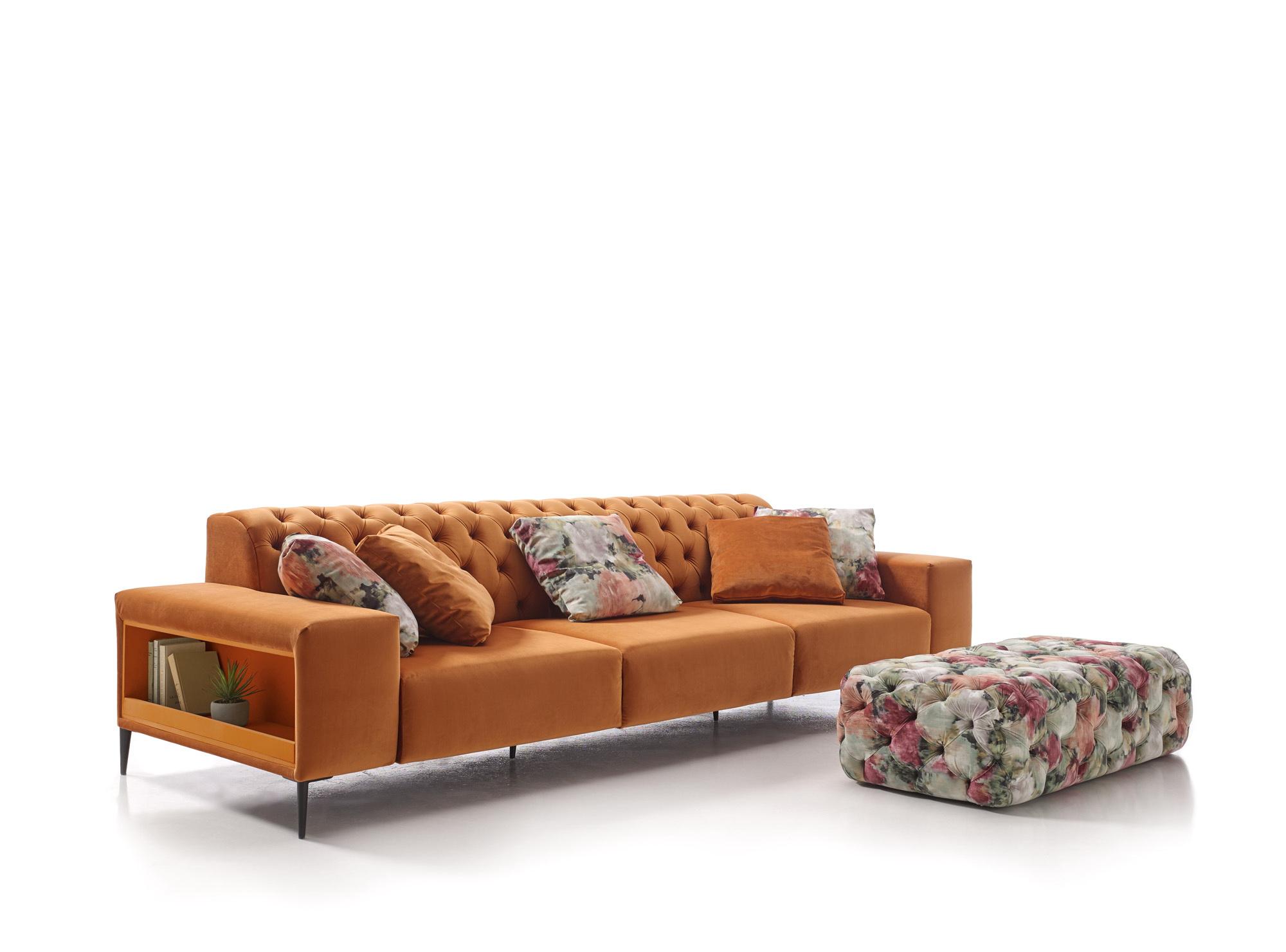 ORIGEN Capitoné sofá asientos fijos by Reyes Ordoñez SOFÁ 4 PLAZAS 01.4 de venta en Muebles ANTOÑÁN León