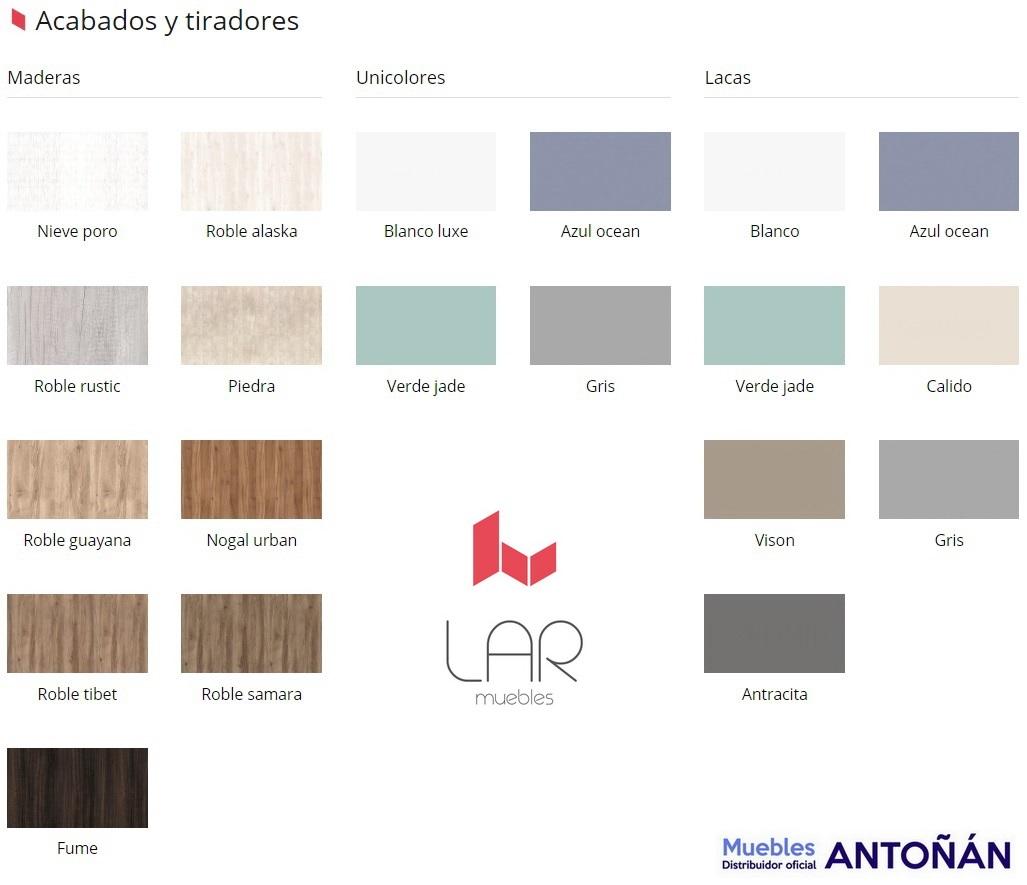 ACABADOS y TIRADORES Dormitorios Modernos DAINTY 1.1 de la marca Muebles LAR de venta en Muebles ANTOÑÁN León
