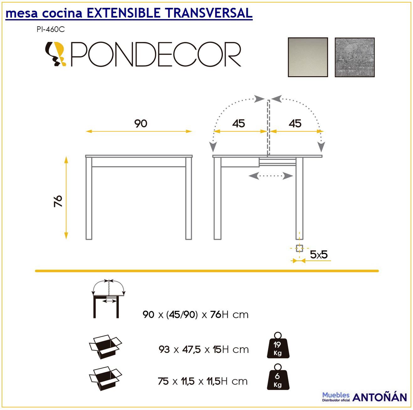 Mesa cocina EXTENSIBLE TRANSVERSAL by CMC Unique Pondecor en ...