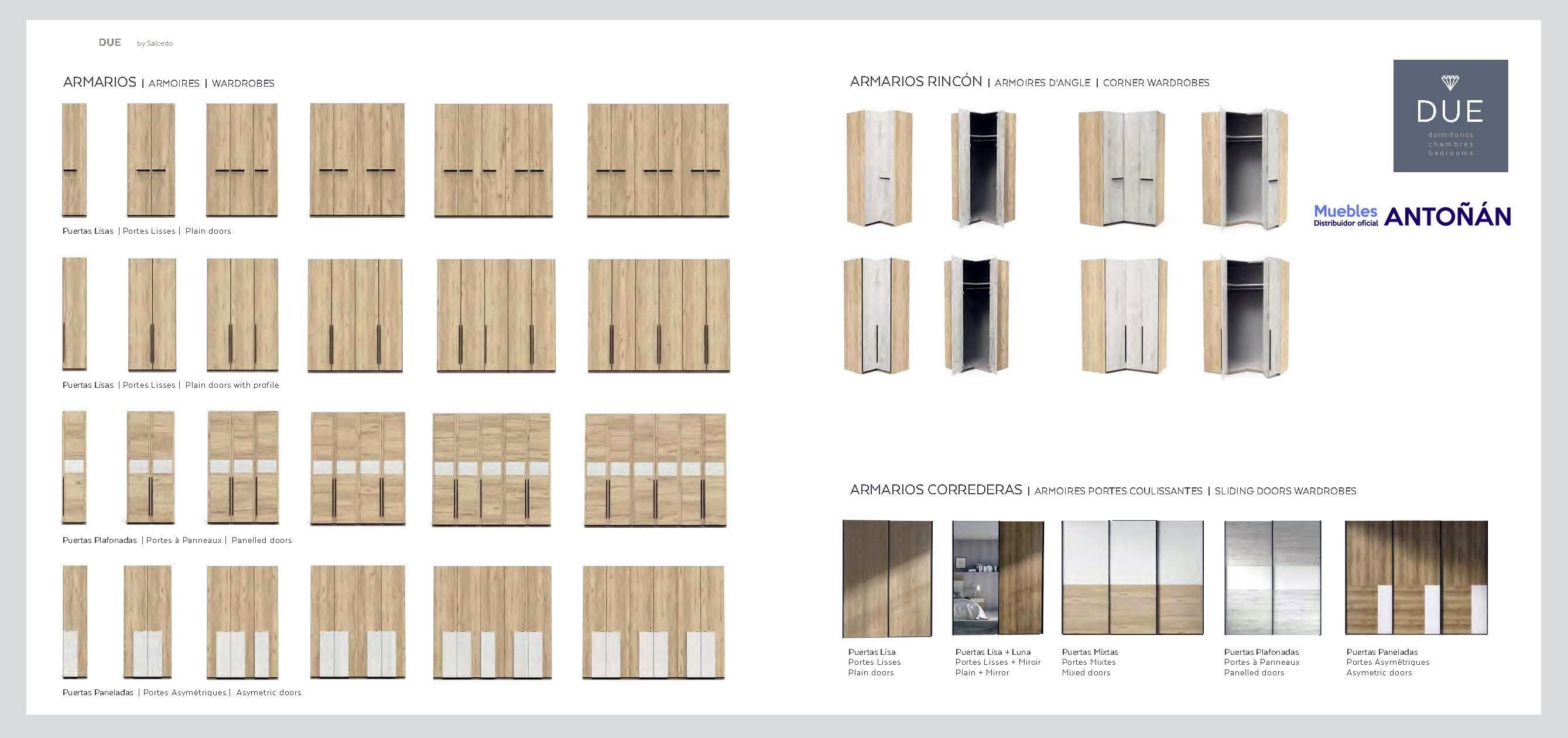 DUE dormitorios modernos by Salcedo RESUMEN SALCEDO DUE 03 de venta en Muebles ANTOÑÁN León