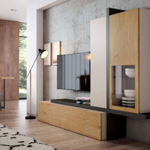 Mueble TV Moderno by Cubimobax ILUSION ROOM PLUS 09.1 de venta en MUEBLES ANTOÑÁN
