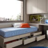 Habitaciones Juveniles INFINITY 2 by JotaJotaPe 19-cama-base-cajones venta en MUEBLES ANTOÑÁN León