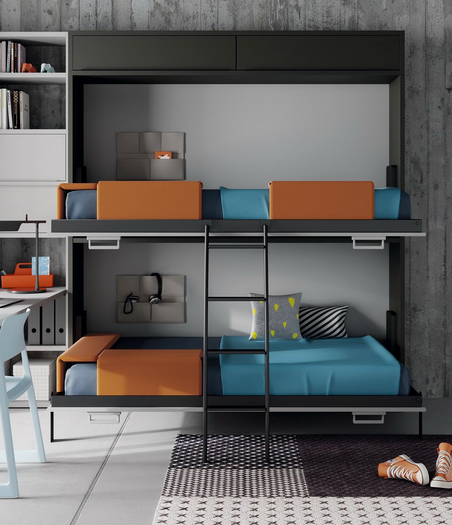 Habitaciones Juveniles INFINITY 2 by JotaJotaPe 41-cama-abatible-litera venta en MUEBLES ANTOÑÁN León