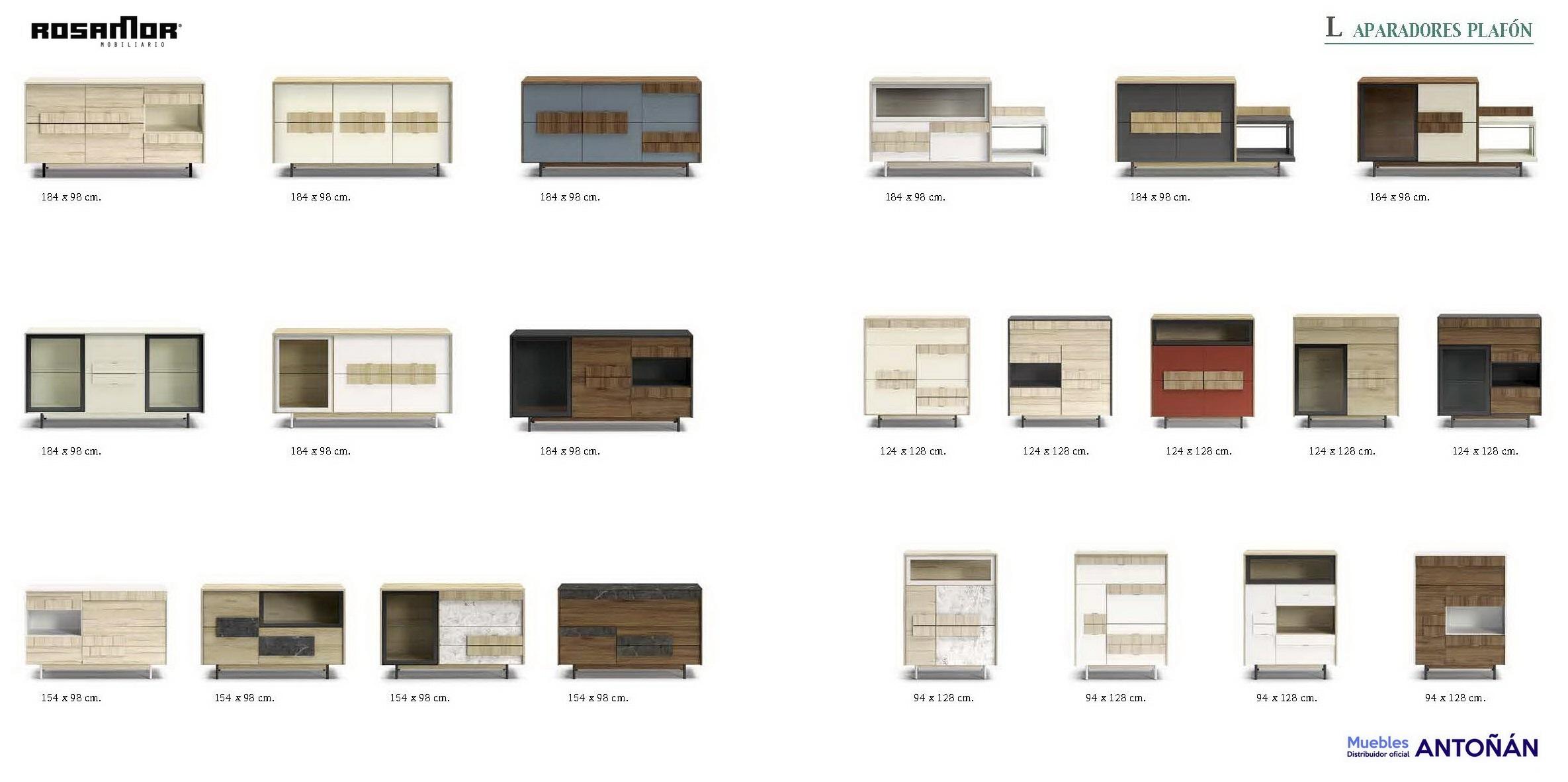 Resumen Aparadores Modernos by Rosamor 01 de venta en muebles antoñán® León