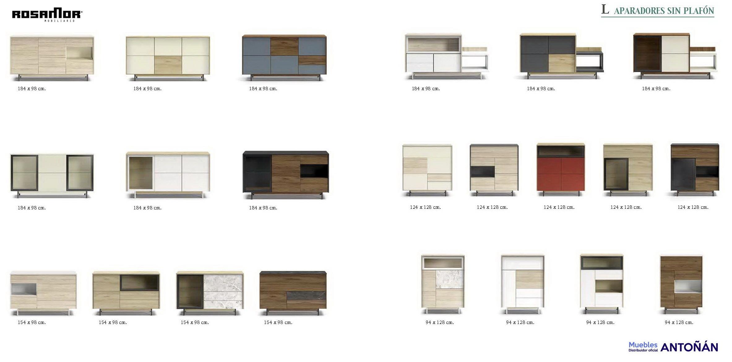 Resumen Aparadores Modernos by Rosamor 02 de venta en muebles antoñán® León